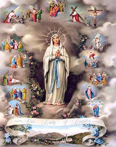 Diamond Painting Virgin Mary Jesus Christ Birth Wall Painting DIY 3D Diamond Embroidery Religious Pictures Mosaic Decor Stickers