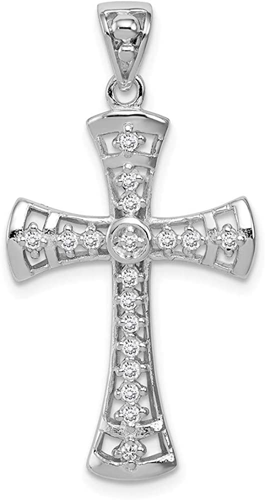 Ryan Jonathan Fine Jewelry Same day shipping Sterling Cross Zirconia specialty shop Silver Cubic