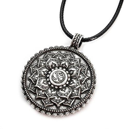 Miss - E - Jewels TM Collar de Plata Envejecida con Colgante de Flor d