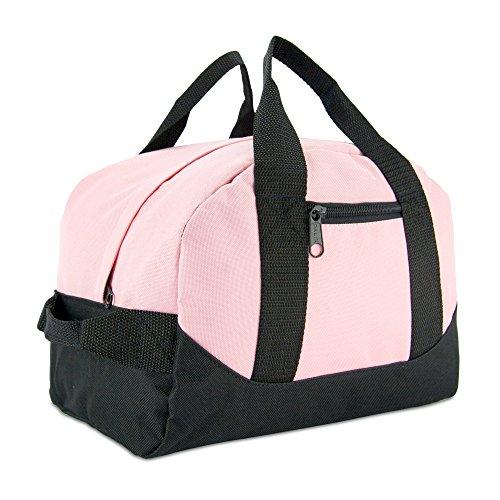 12' Mini Two Tone Duffle Bag in Pink and Black