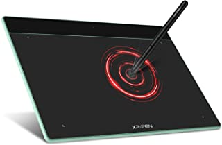 XP-Pen ペンタブレット XSサイズ ペンタブ Chromebook 対応 板タブ 充電不要ペン イラスト 入門用 OSU!ゲーム用 Windows Mac Androidに対応 Deco Fun XS ミントグリーン