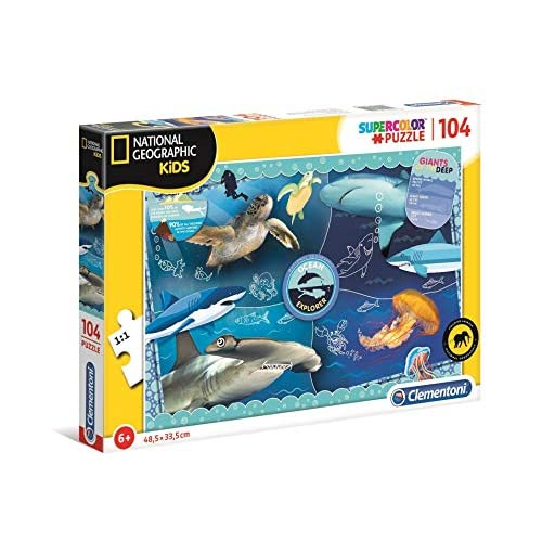 Clementoni - 27141 - National Geographic Kids - Ocean Explorer - 104 Pezzi - Made In Italy - Puzzle Bambini 6 Anni +