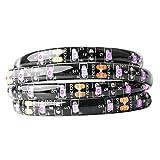 BTF-LIGHTING Luz negra UV 16.4 ft / 5m Tira de 300 LED, 5050SMD Ultravioleta 395nm-405nm Luz de rayos Flexible Lámpara de...