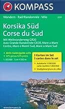 Corsica South (Corse, France) 1:50,000 Hiking Map, 3-Map Set KOMPASS, 2013 edition by Kompass (2013-05-03)