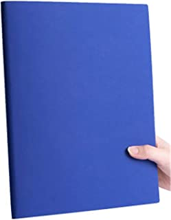 $41 » Notebook, Soft Leather (3-Piece Set, 220X290Mm, 100 Sheets), For Diary,   Blue (3 Pieces) Horizontal Lines