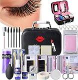 22PCS Eyelashes Extension Kit Grafting False Eyelashes Tools, Eyelashes Extension Practice Set,Tweezers Ring Cup False Eyelashes Extension Practice Exercise Set for New Beginners