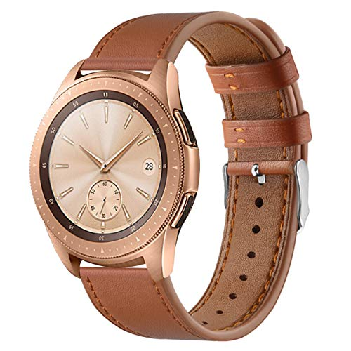 XZZTX Compatible avec Galaxy Montre Active de 20 mm Bandes Watch, véritable Remplacement en Cuir Bracelet Bracelets pour Garmin VivoActive 3 / HR Vivomove