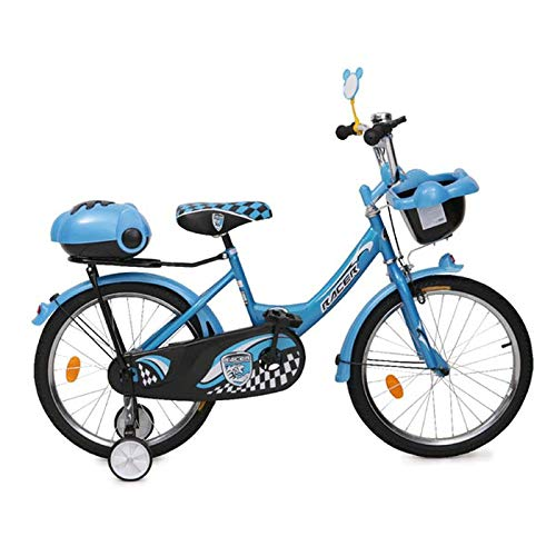 Moni Trade Ltd. Byox Kinderfahrrad 20 Zoll 2082 blau, Stützräder, Zwei Gepäckkörbe, Klingel