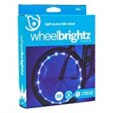 Wheelbrightz LED Bicycle Wheel Lights – Bright, Colorful Light for Bikes – Fits Front or Rear Tire – Weather-Resistant Tube with Battery Pack – for All Ages (Blue, 1-Wheel)