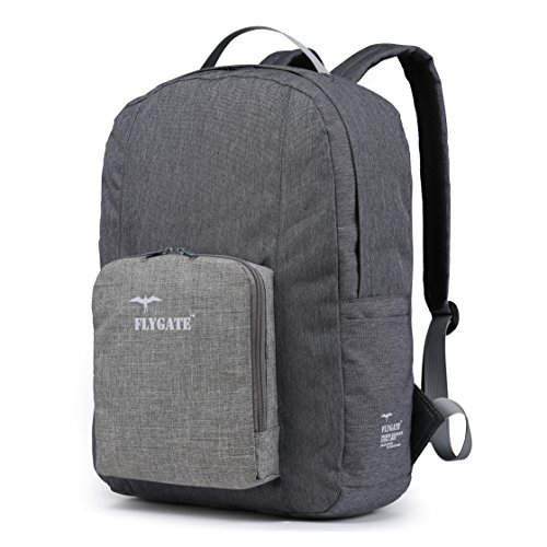 Chapter: Comfort. 35L Foldable Large Waterproof Carry-On Travel Backpack with Trolley Sleeve - Ultra Lightweight and Packable - Tarifa Grey Sand
