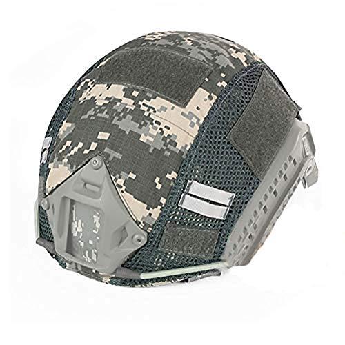 ATAIRSOFT Airsoft Tactical Helmet Cover para PJ/BJ/MH Tipo Casco rápido con Bolsa Trasera (ACU)