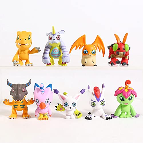 HHAA Anime Figur 9 Stück/Los Digimon Figuren Figur Anime Action Modell Spielzeug Super Spielzeug Statue Figuren PVC Dekoration Sammlung Puppe Geburtstagsgeschenk