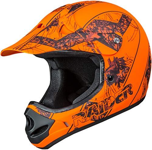 Raider 24-630MOB-13 Ambush Mossy Oak Unisex-Adult MX Off-Road Helmet (Blaze Orange Break-Up Infinity Camo, Small)