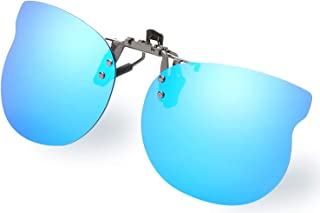 Diovento Polarized Clip-on Flip Up Rimless Sunglasses for...