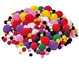 525 bunt gemischte Pompon-Bälle - PLAYBOX