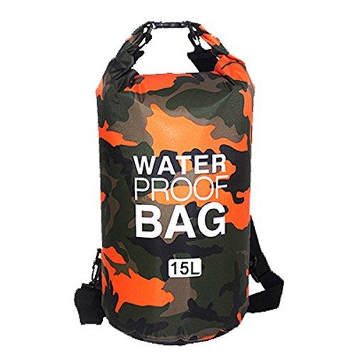 Sacs Etanches Camouflage Dry Bag Bâche PVC pour Activités de Plein Air et Sports Camping Nautique...