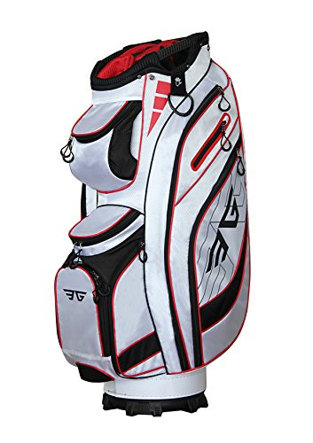 Eagole Super Light Golf Cart Bag,14 Way Top and Full Length Divider,10 Pockets (White)