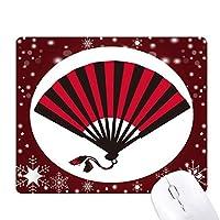 日本の赤黒のファン オフィス用雪ゴムマウスパッド
