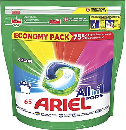 Ariel Detergente All-in-1 PODS Color 65 lavados 65 cápsulas
