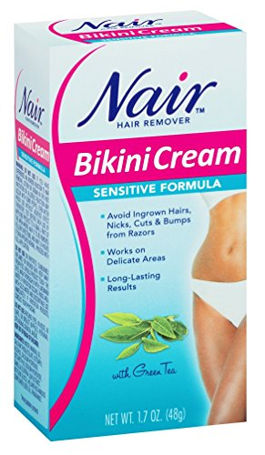 Nair Nair Sensitive Bikini Cream Hair Remover - 1.7 oz: 3 Units.