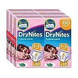 Huggies DryNites Girl hochabsorbierende Pyjamahosen Unterhosen für Mädchen 3-5 Jahre, 6x 10 Stück - 2