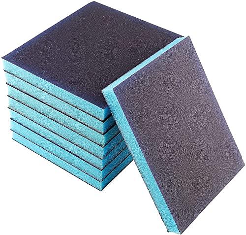 Sanding Sponges 220 Grit, 8 Pieces Sponge Sanding Blocks Superfine Grade, Washable & Reusable Sanding Sponges for Wood