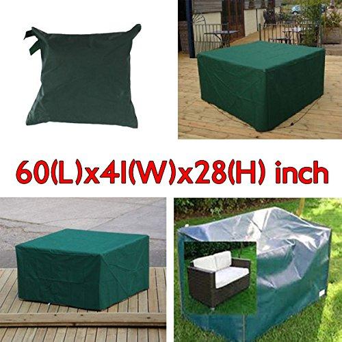 Bureze 152 x 104 x 71 cm Mobilier de Jardin extérieur imperméable et Respirante Dust Cover Table Shelter