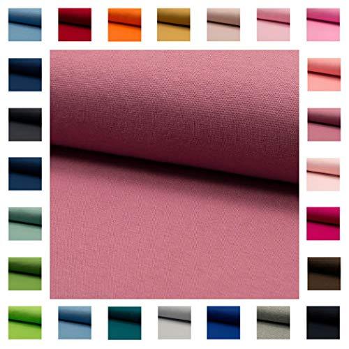 Bündchen Stoff NELE UNI in vielen Farben Oeko-Tex Standard 1 Schlauchware 35cm / 70cm aufgeschnitten Meterware ab 50cm hochwertiger Basic-Stoff zum Nähen (altrosa)