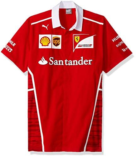 PUMA 2017 Ferrari Team Football Soccer T-Shirt Trikot (Rosso Corsa)