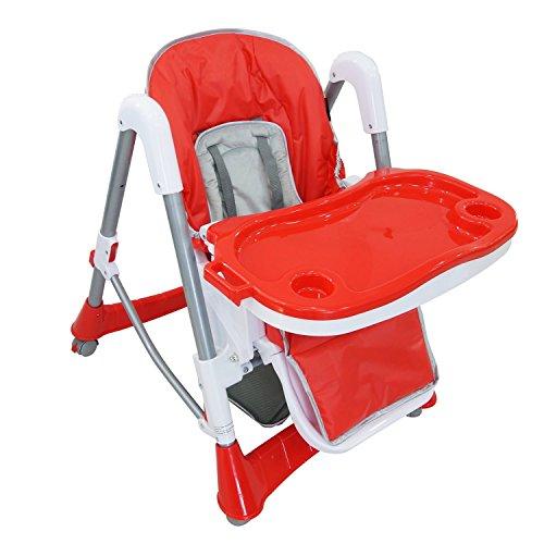 Todeco - Chaise Haute pour Bébé, Chaise Pliante pour Bébé - Taille déployée: 105 x 75 x 60 cm...