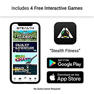 Stealth Core Trainer - Get a Lean Strong Core Playing Games On Your Phone; Free iOS/Android App; 4 Free Mobile Games Included; Dynamic Core Training; Increase Energy & Lose Body Fat in 3 Min/Day, Made In USA (Professional)…