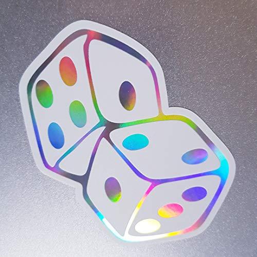 folien-zentrum Würfel Weiß Hologramm Oilslick Rainbow Flip Flop Aufkleber Metallic Effekt Shocker Auto JDM Tuning OEM Dub Decal Sticker Illest Dapper Oldschool
