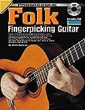 Aprende cómo tocar la guitarra - Fingerpicking Folk Guitar - Tutor de música Enséñate a ti mismo Lecciones - TAB Notes Acordes Libro y CD - J5