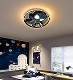 LED Plafoniera creativo cameretta bambini dimmerabile lampade da soffitto con telecomando Moderno Tondo Cartoon Marvel Spiderman lampadario per ragazzo camera da letto salotto applique da parete