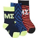 adidas Messi Kids Sock Calcetines, Unisex niños, Maruni/Azul/Rojsol, 35/38