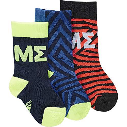 Adidas Messi 3pp Ankle Socks, Babys S Blau / Rot (collegiate navy / blue / solar red)