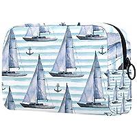 コスメティックバッグレディースウォータープルーフメイクアップバッグコスメティックチェンジキーなどを運ぶ旅行用シームレス水彩航海パターン