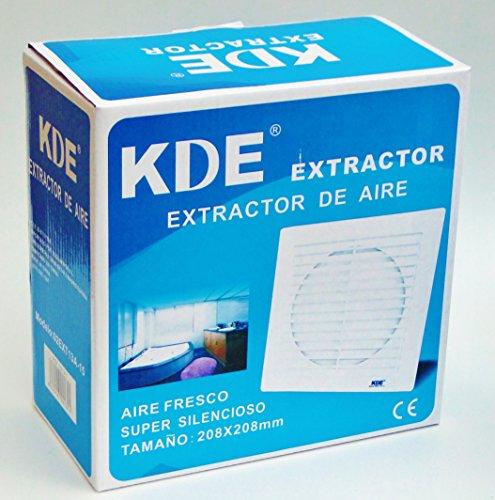 Extractor de aire super silencioso (aspirador) para ventilación 25W 208x208mm