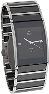 Rado Mens Integral Swiss Automatic Stainless Steel and Ceramic Dress Watch, Color: