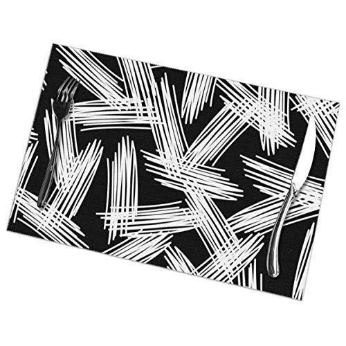 Textuur Van Schilderij Placemat Wasbaar Voor Keuken Diner Tafelmat, Makkelijk Te Reinig Makkelijk Te Vouwen Plaats Mat 12x18 Inch Set Van 6