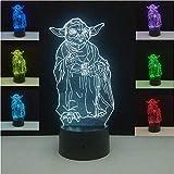 3d Led Optical Illusion Lamp Night Light Table Lamp Usb Powered Optical Illusion Night Lights Home Party Decor Gift Star Wars Master Yoda