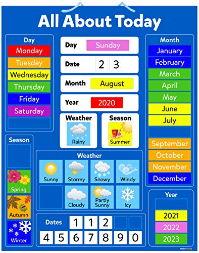 Children's Educational Magnetic Calendar Board
