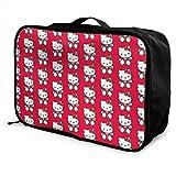 Hello Kitty Travel Lage Duffel Bag Valigia leggera Borse portatili per donna Uomo Bambini Impermeabile Large Bapa Caity