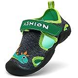 Zapatillas de Playa Piscina Natación Verano Zapatos de Agua para Niños Sandalias Cerrada de Secado Rápido,E Verde,26 EU