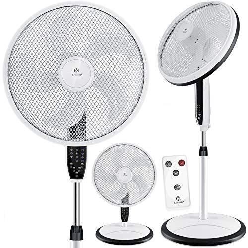 KESSER® 3in1 Standventilator Tischventilator Wandventilator mit App WiFi, Fernbedienung | Timer | leise Oszillation 80 Grad | Ventilator | 4 Geschwindigkeiten inkl. Wandhalterung