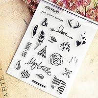 14x18cmカード装飾透明クリアスタンプシリコンシールローラースタンプDIYスクラップブッキングpoアルバム/カード作成