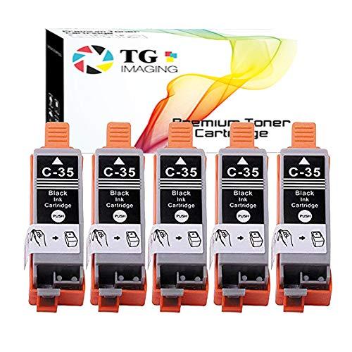(Black) TG Imaging Compatible Ink Cartridge 5 Pack...