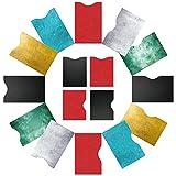 RFID Schutzhülle Kreditkarten (16 St.) RFID Blocker Kartenhüllen - 100% NFC Schutz Kreditkarte, Personalausweis, Bankkarte, Reisepasshülle, Ausweishülle, EC-Karten Hülle, Kreditkartenhülle abgeschirmt