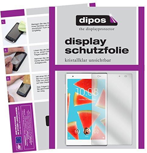 dipos I 2X Schutzfolie klar kompatibel mit Lenovo Tab4 8 Plus TB-8704F Folie Bildschirmschutzfolie