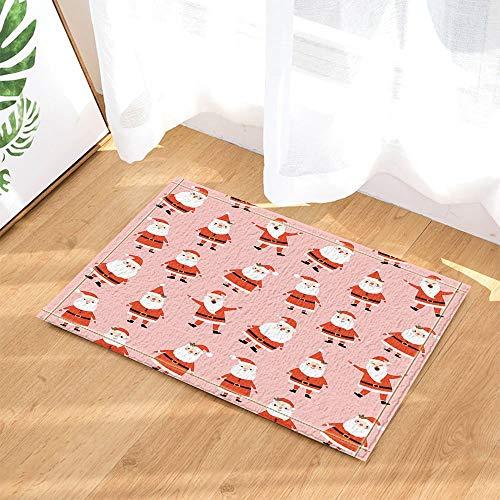 Noel feliz en rosa para alfombras de baño navideñas, alfombras de baño con tapete antideslizante, puertas de...